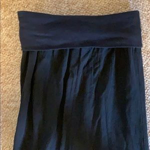 Banana Republic Skirts - Black Flowy Linen Maxi Skirt  With Foldover Top